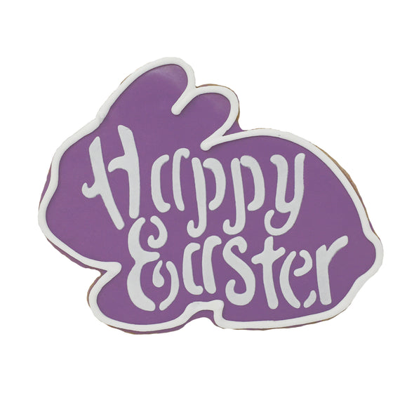 Easter Bunny Cookie - Purple