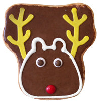 Reindeer Face Cookie (12 cookies)