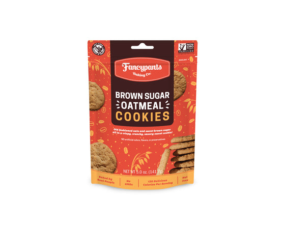 Brown Sugar Oatmeal Crispy & Crunchy Cookies (6 Pack)