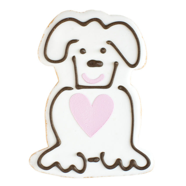 Cute Puppy Valentine's Day Cookie
