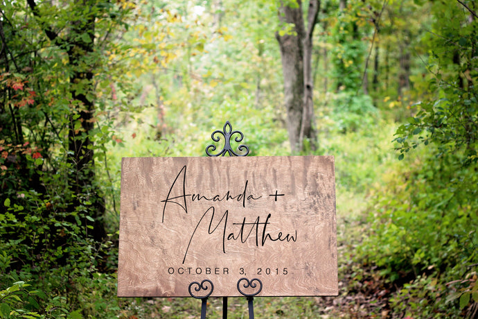 First Name Wooden Wedding Welcome Sign