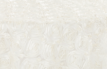 Rosette Tablecloth Rental | Rosette Tablecloth | Romantic Wedding | Wedding Rentals | Linen Rentals