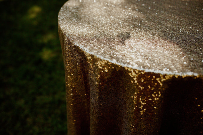 Sequin Tablecloth Rental | Wedding Rentals | Champagne Gold | Rose Gold | Silver | Sequin Linens | Linen Rentals