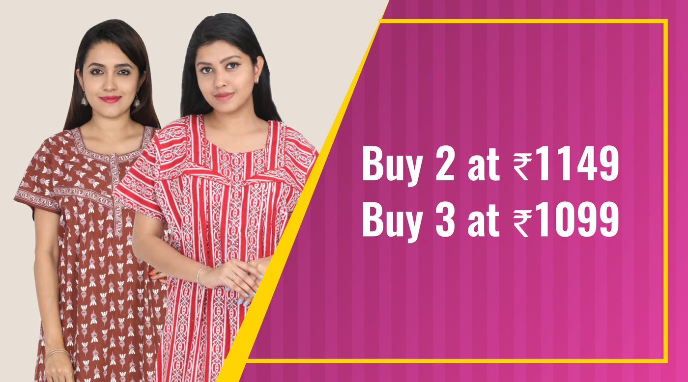 Nightwear for Women - Buy Cotton Nighties Online India at best prices. 70b0c0573