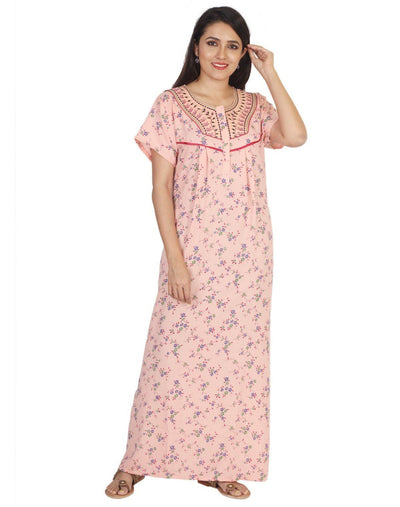 Womens Nightgown - Front Button - Regular Fit Womens Nighty NK - Kiwi