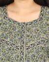Womens Jaipuri Cotton Nightgown - Front Zip - Regular Fit - Nighty House