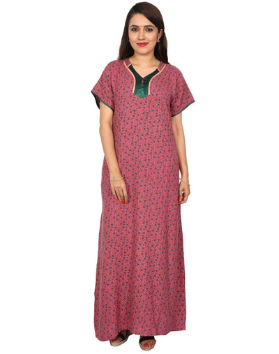 Womens Full Length Alpine Nighty - Even Neck