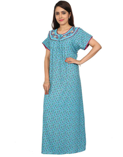 Womens Full Length Alpine Nighty - Front Buttons