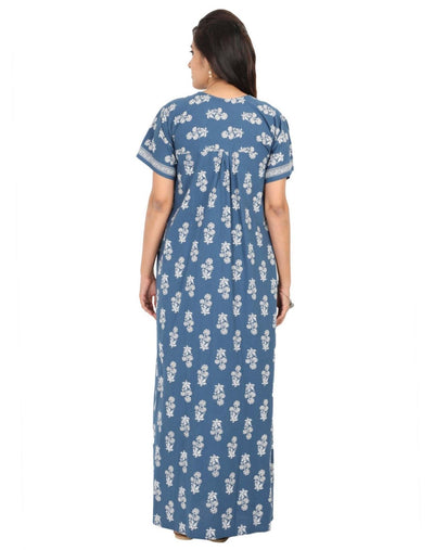 Womens Jaipuri Cotton Nightgown - Regular Fit - Nighty House
