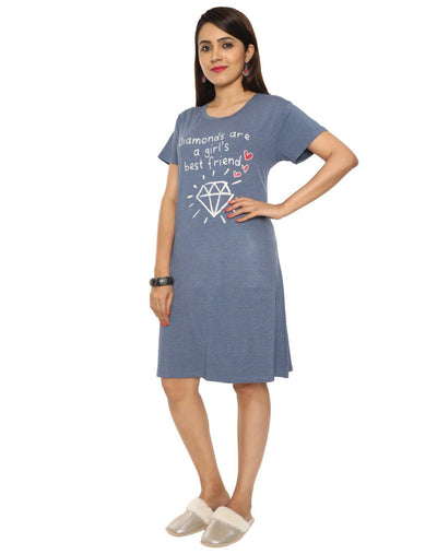 SH Womens Short Hosiery Cotton Nightwear - Nighty House
