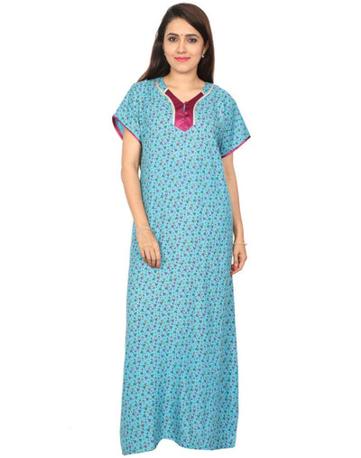 Womens Full Length Alpine Nighty - Even Neck - Nighty House