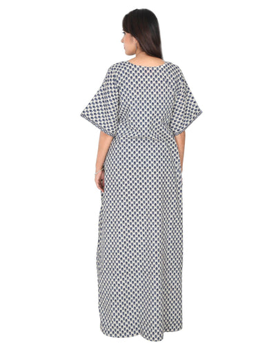 Womens Full Length Premium Cotton Nightwear - No zip - Slim Fit Womens Nighty NK - Kiwi