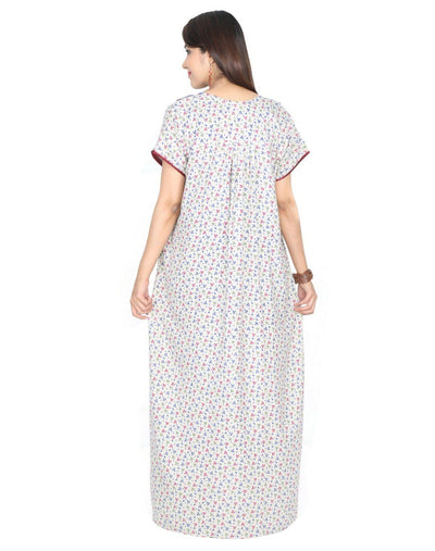 Womens Full Length Alpine Fabric Nighties - Front Button - Nighty House