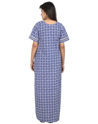 Womens 100% Cotton Full Open Nightgown - Front Button Open - Nighty House