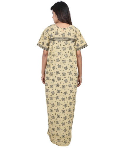Womens 100% Cotton Feeding Nightgown - Vertical Side Zip - Nighty House