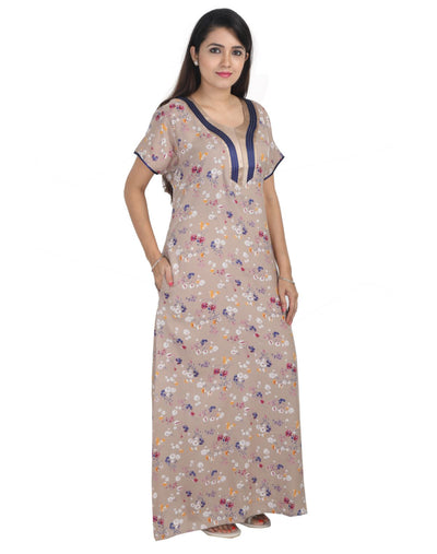 Womens Long Nightwear - Slim Fit - Alpine Fabric - Nighty House