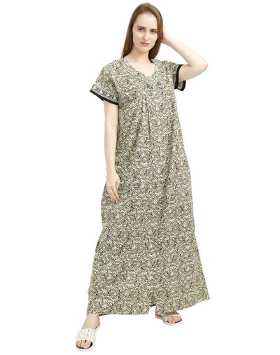 NM Womens Full Length Cotton Nighties - Full Open