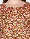 Womens Cotton Nightgown - Front zip - SlimFit - Jaipuri Prints - Nighty House
