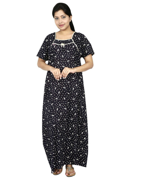 NM Womens Full Length Cotton Nightwear - Even neck