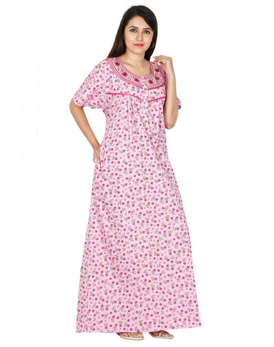 NM Womens Full Length Cotton Nighties - Full Open - Nighty House