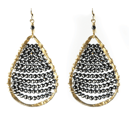 Delicate Pyrite Drop Earrings