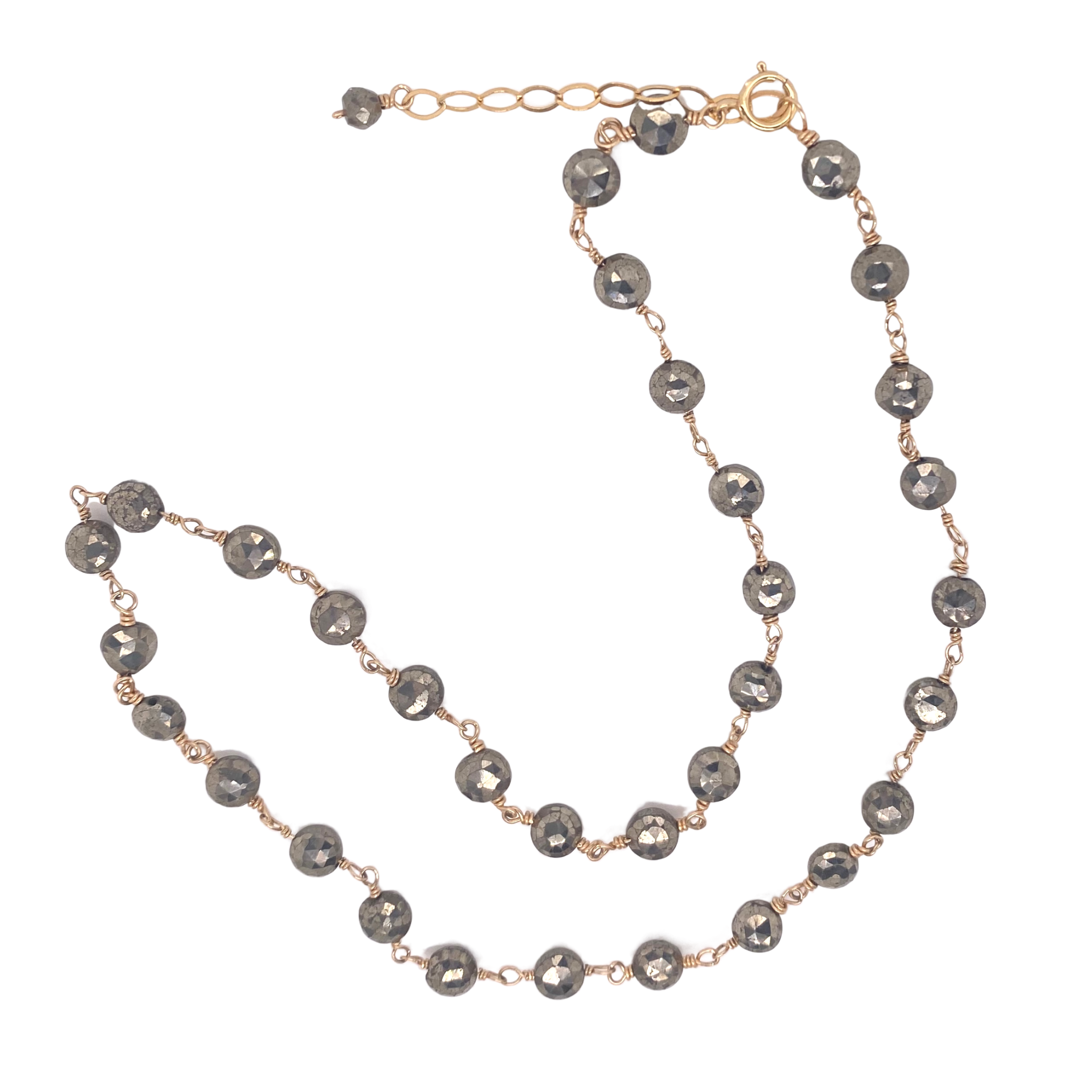 Faceted Pyrite Necklace - Karlas Jewelry & Gifts