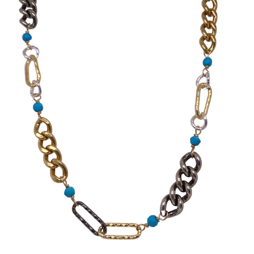 Roxy Mixed Metal Necklace
