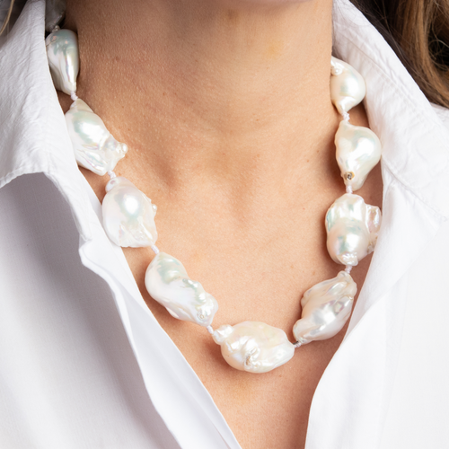 Akoya + Pearl Toggle Necklace