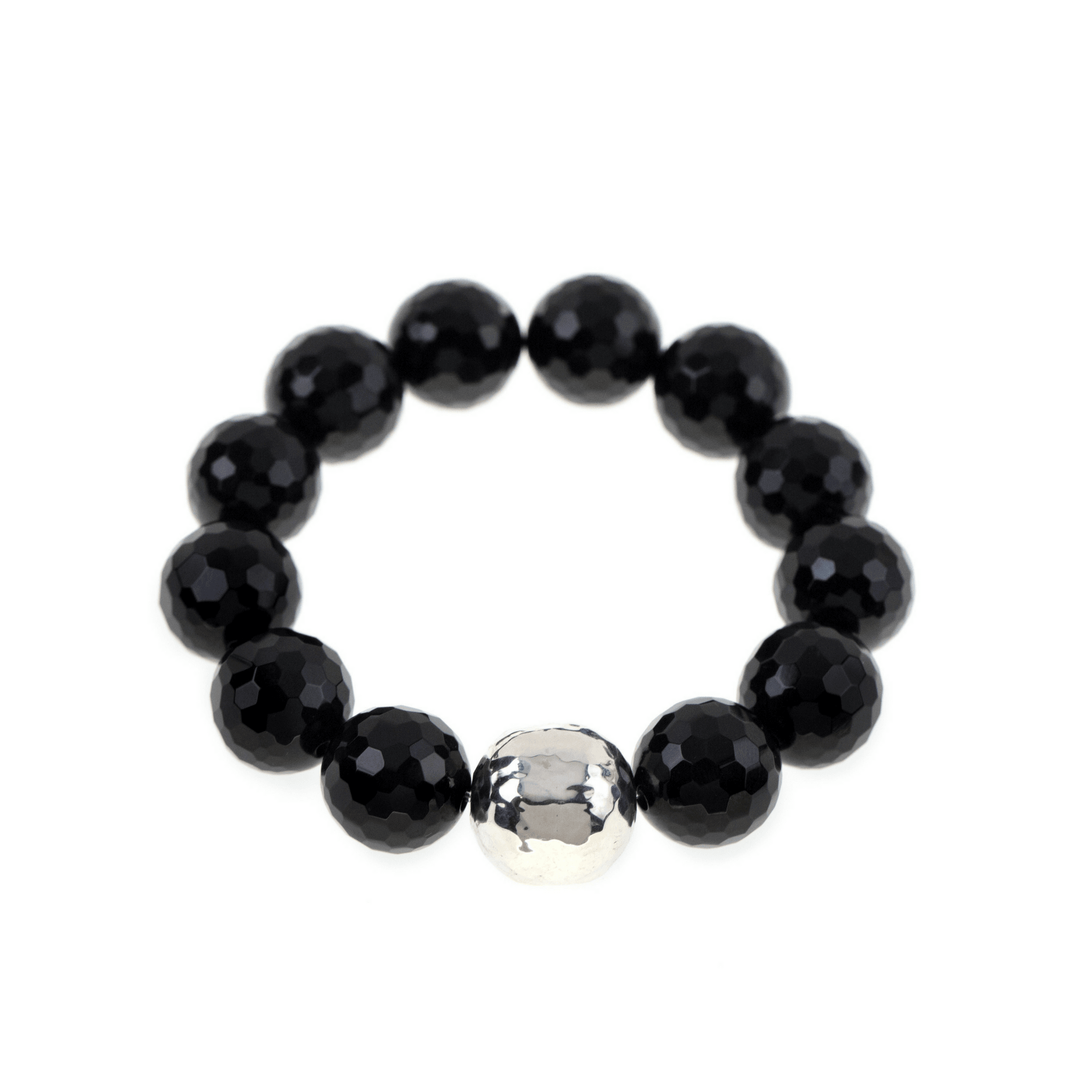 bracelet genuine knot stretchy plated black buddha endless get both silver onyx or pin
