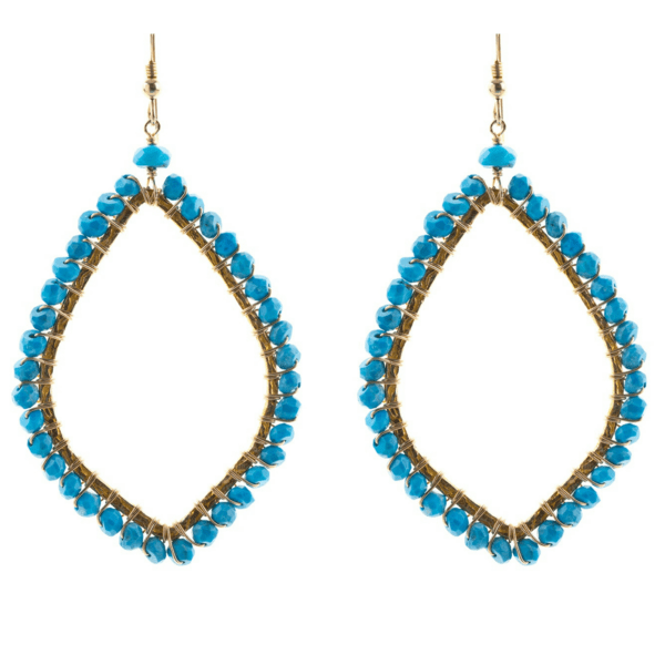Oval Shaped Earrings in Turquoise - Karlas Jewelry & Gifts