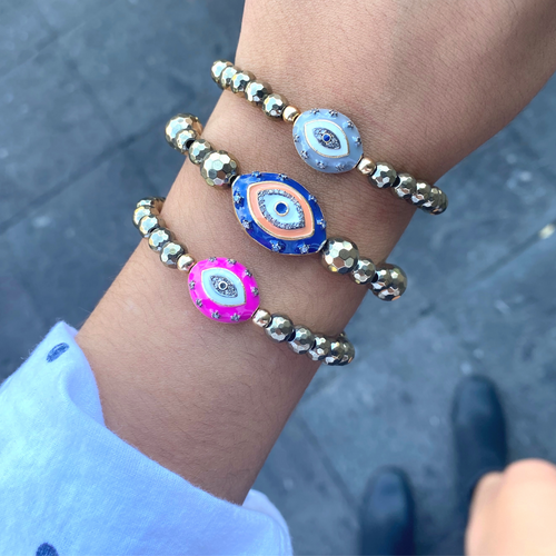 Evil Eye Stretchy Bracelet