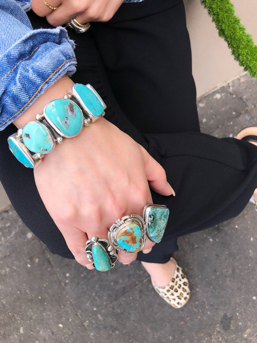 Federico Sleeping Beauty Turquoise Cuff - Karlas Jewelry & Gifts