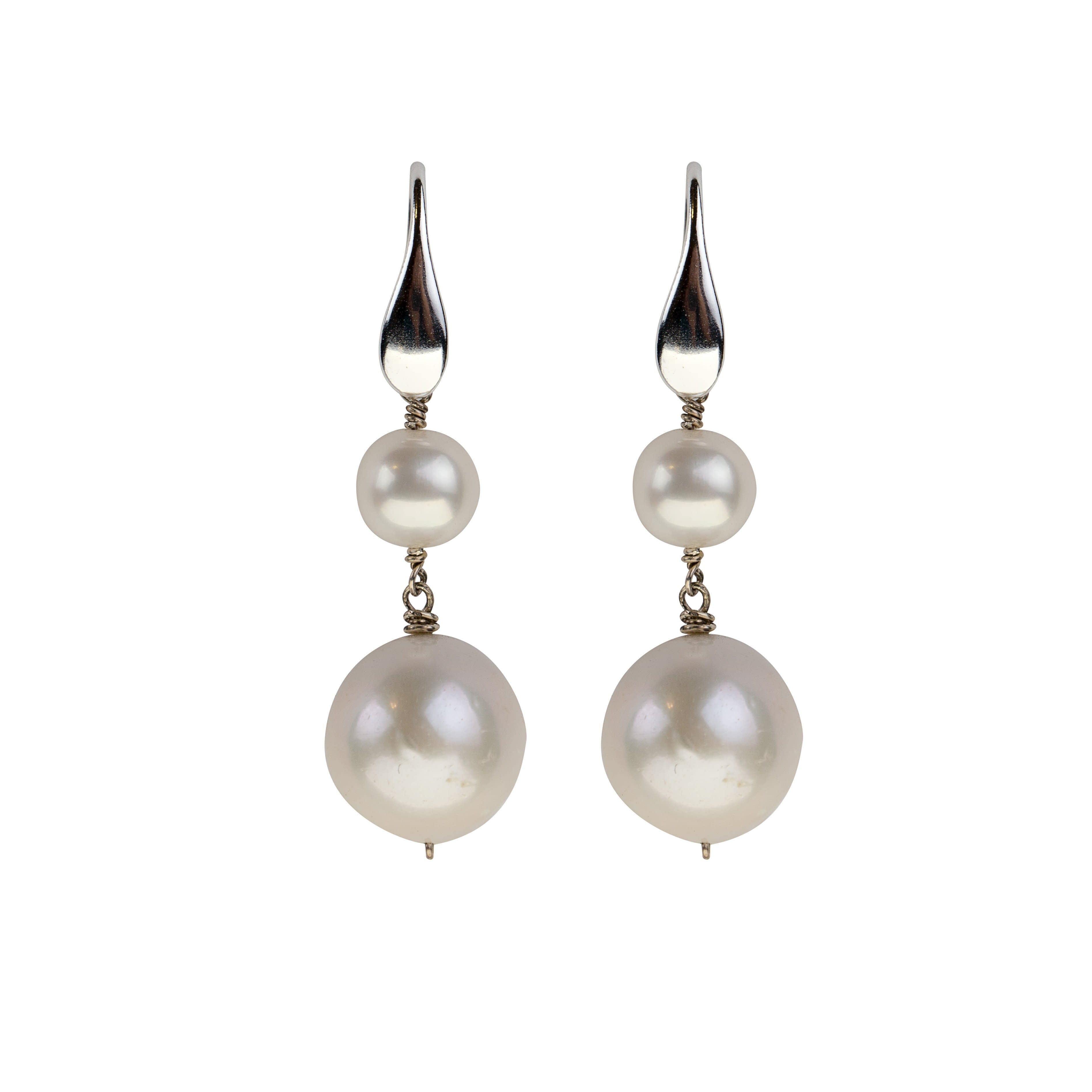 White Freshwater Pearl Earrings - Karlas Jewelry & Gifts