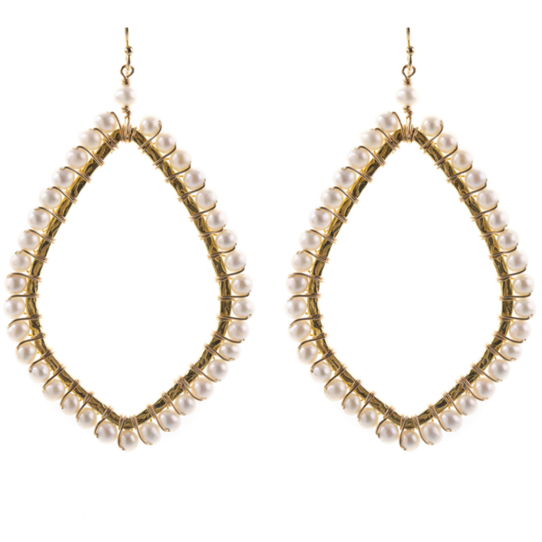 Oval Shaped Earrings in Pyrite
