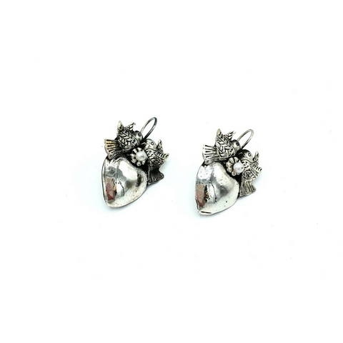 Federico Silver Lovebird Earrings