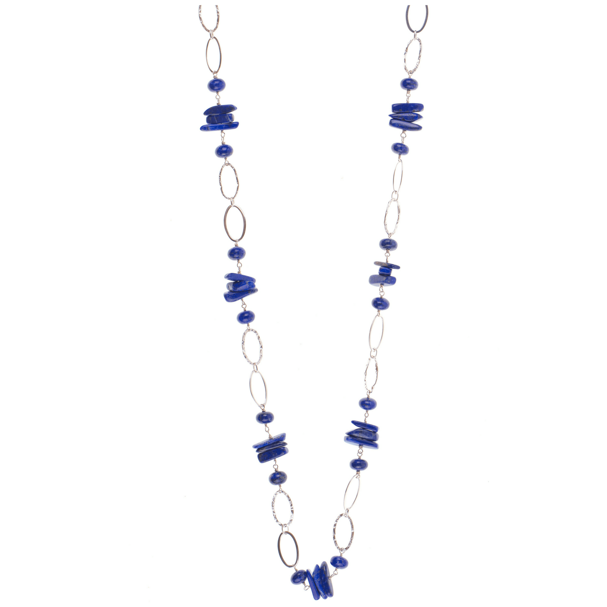 Lapis on Sterling Silver Necklace