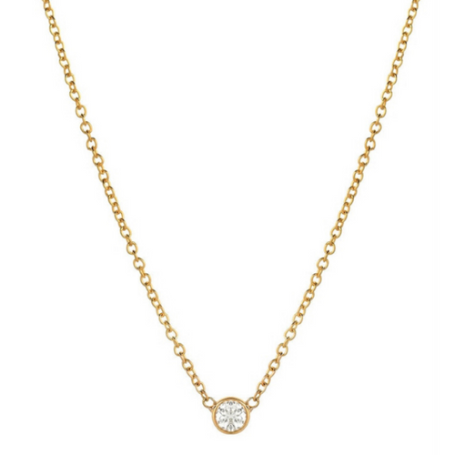 Dainty Bezel Diamond Necklace
