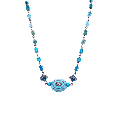 Luxe Turquoise Evil Eye Necklace