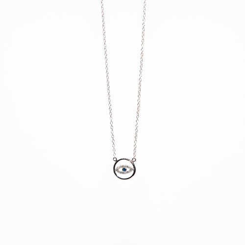 Evil Eye CZ Necklace