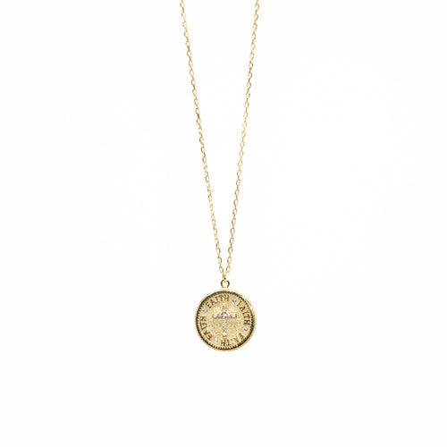 Faith Coin + Cross Necklace
