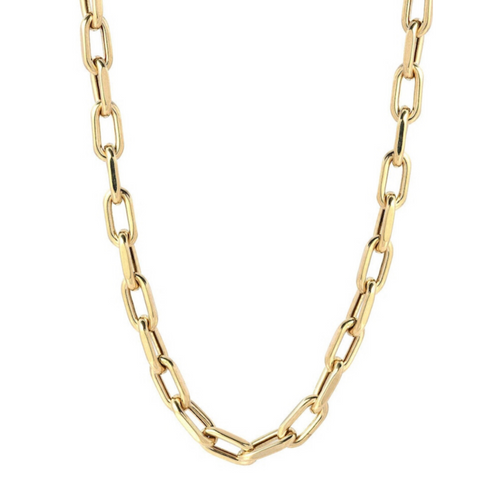 14k Large Open Link Chain Necklace