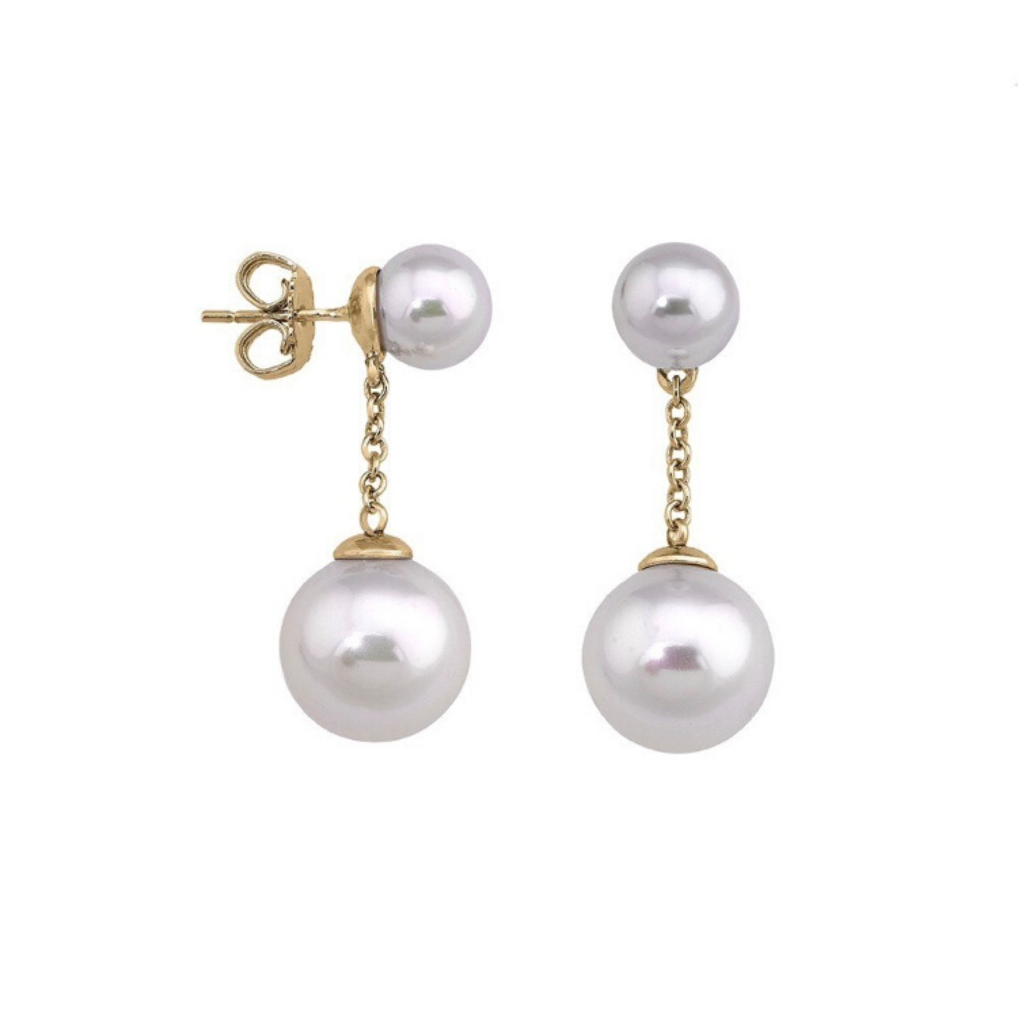 Majorica Pearl Chain Drop Earrings