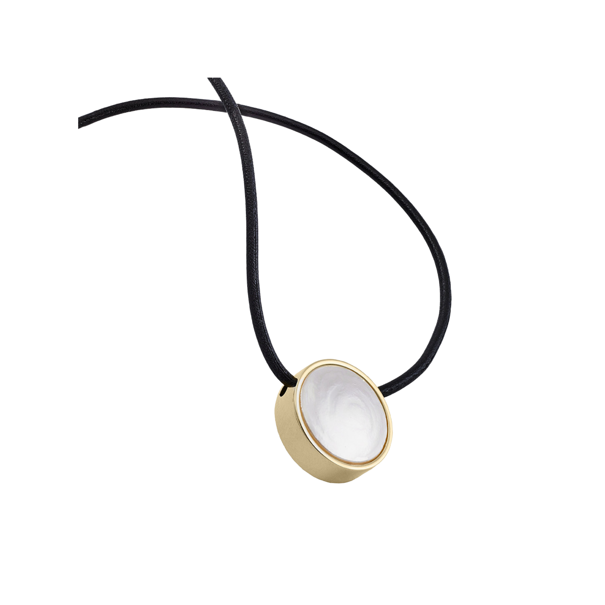Majorica Coin Pearl + Leather Necklace - Karlas Jewelry & Gifts