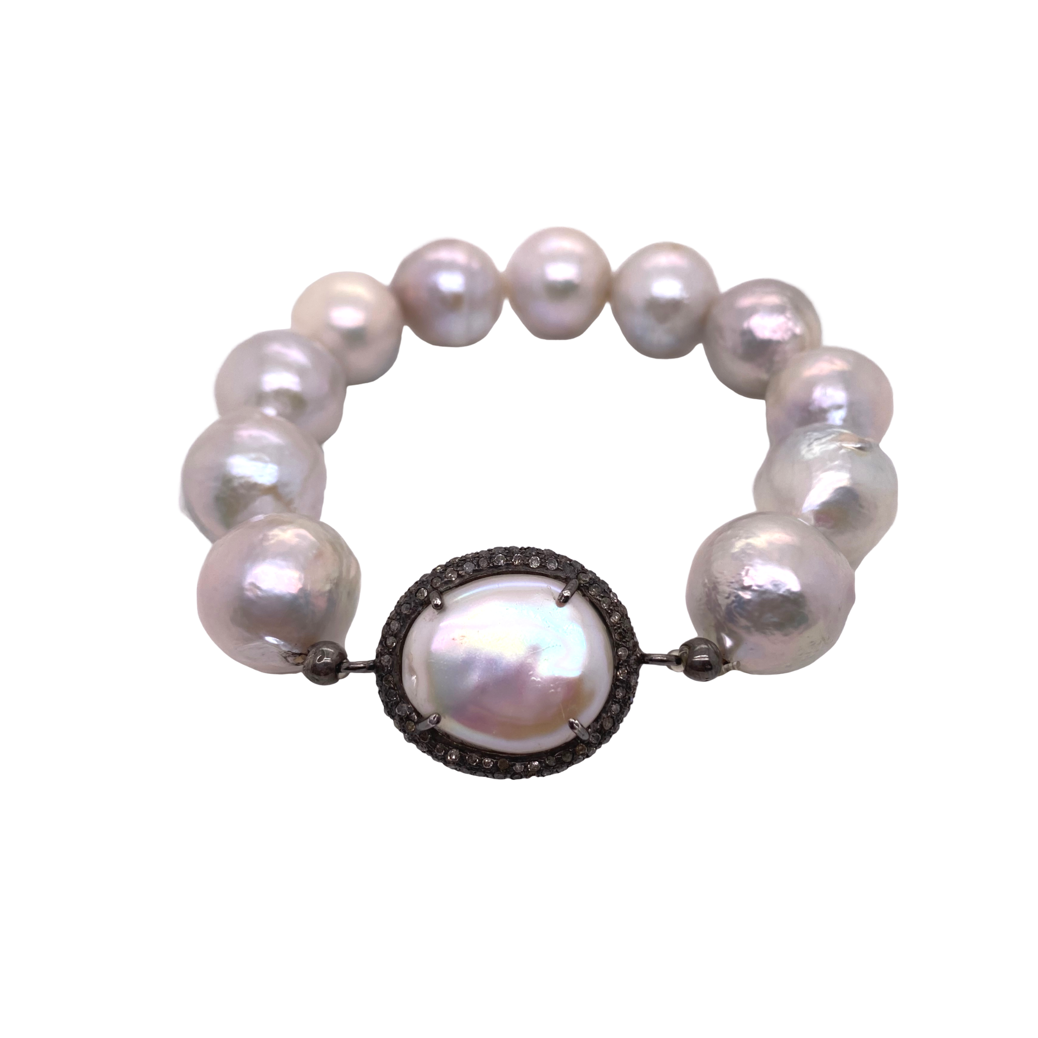 Pearl + Diamond Bracelet