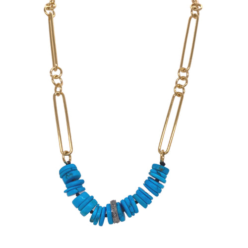 Nina Stone Bar Necklace