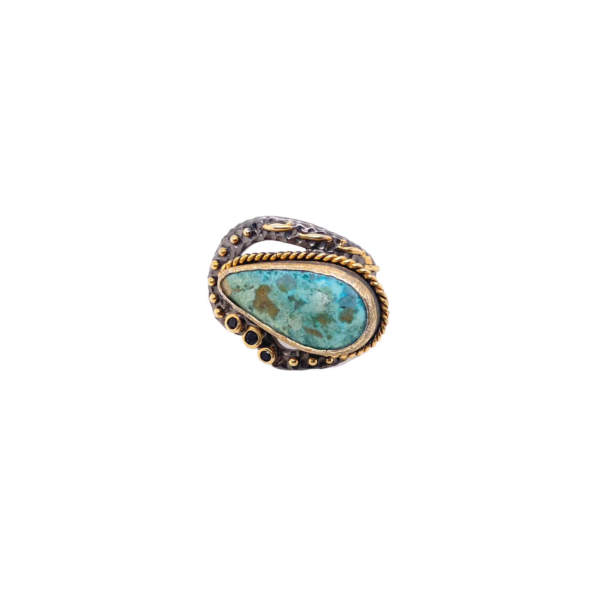 Mixed Metal Turquoise Ring - Karlas Jewelry & Gifts