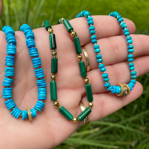 Turquoise + Diamond Necklace