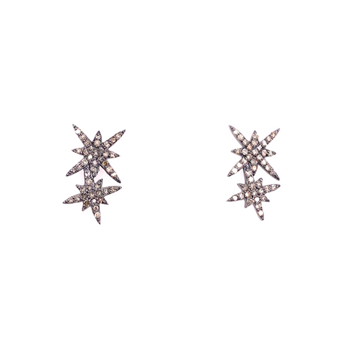 Pave Diamond Starburst Studs - Karlas Jewelry & Gifts