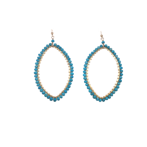 Stone Silhouette Drop Earrings