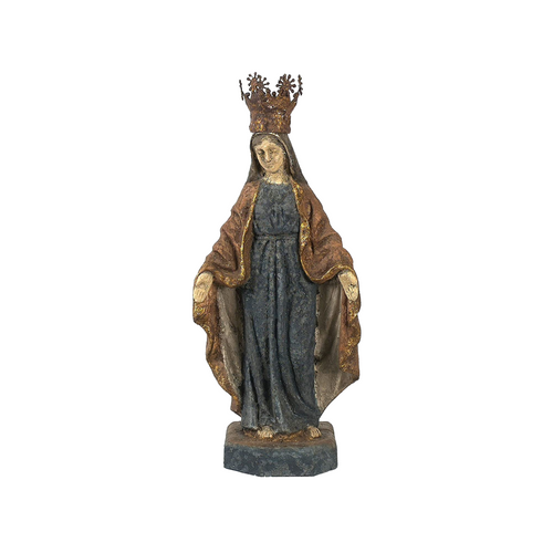 Crowned Virgin Mary Statue